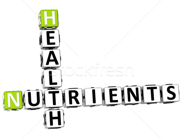 3D Health Nutrients Crossword Stock photo © Mariusz_Prusaczyk