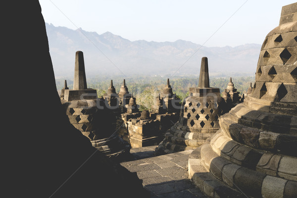 World heritage & the biggest bhuddist temple Borobudur in Yogjak Stock photo © Mariusz_Prusaczyk