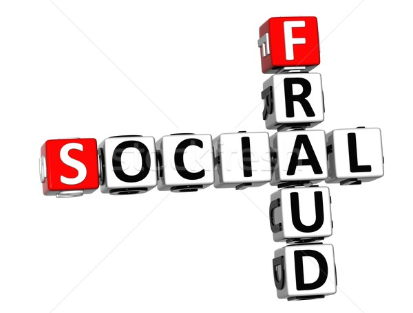 3D Social Fraud Crossword Stock photo © Mariusz_Prusaczyk