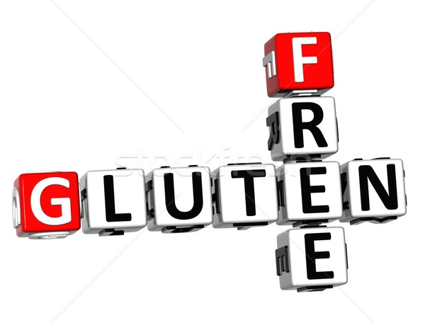 3D Gluten Free Crossword cube words Stock photo © Mariusz_Prusaczyk