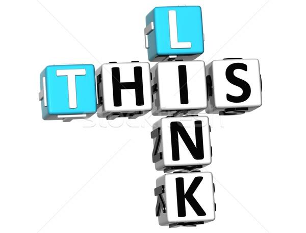 3D This Link Crossword text Stock photo © Mariusz_Prusaczyk