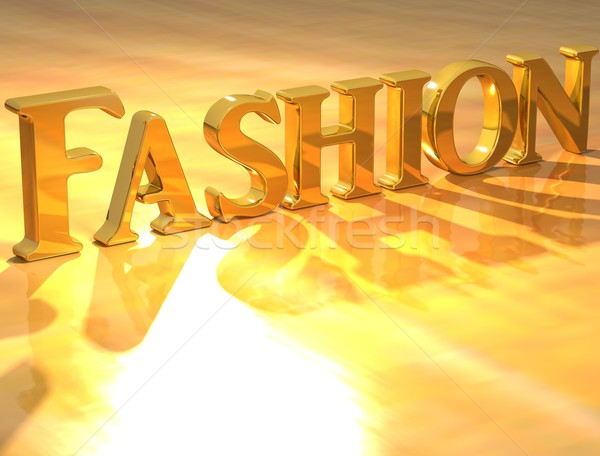 Zdjęcia stock: 3D · moda · złota · tekst · żółty · model