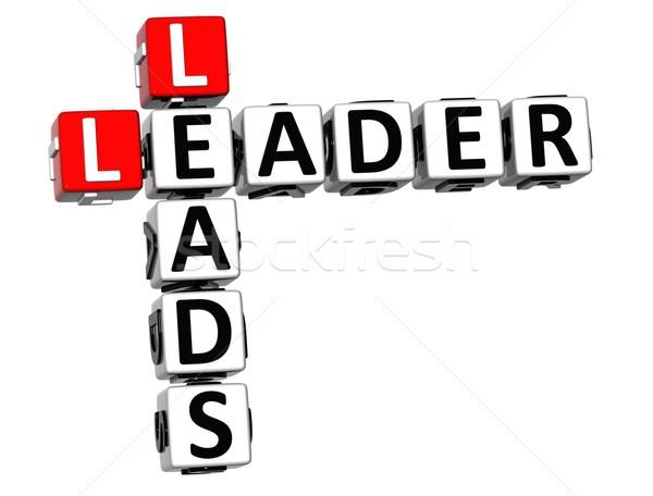3D Leader Leads Crossword Stock photo © Mariusz_Prusaczyk