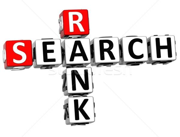 3D keresés rang keresztrejtvény kocka szavak Stock fotó © Mariusz_Prusaczyk