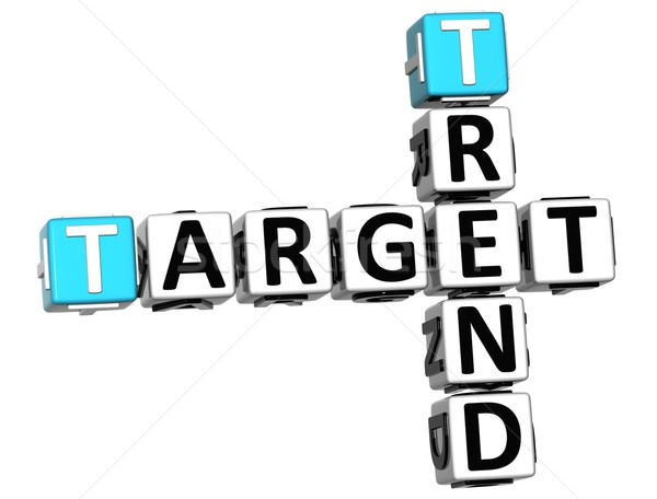3D Trend Target Crossword cube words Stock photo © Mariusz_Prusaczyk