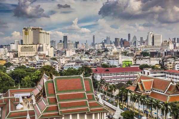 Bangkok Cityscape Tayland güzel gökyüzü iş Stok fotoğraf © Mariusz_Prusaczyk