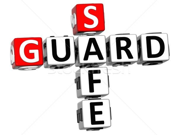 3D Guard Safe Crossword Stock photo © Mariusz_Prusaczyk