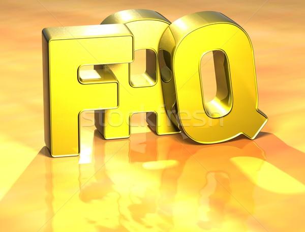 3D Word FAQ on yellow background Stock photo © Mariusz_Prusaczyk