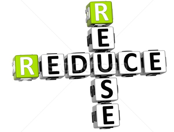 3D Reduce Reuse Crossword Stock photo © Mariusz_Prusaczyk
