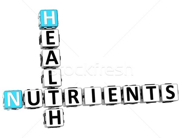 3D Health Nutrients Crossword Stock photo © Mariusz_Prusaczyk