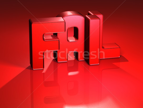 3D Word Fail on red background Stock photo © Mariusz_Prusaczyk