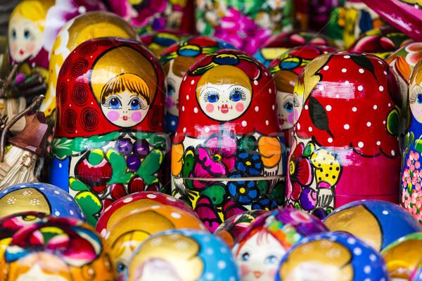 Colorful Russian nesting dolls matreshka at the market. Matriosh Stock photo © Mariusz_Prusaczyk