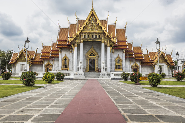 Mármol templo Bangkok Tailandia cielo edificio Foto stock © Mariusz_Prusaczyk