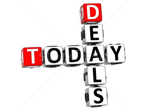 3D Today Deals Crossword Stock photo © Mariusz_Prusaczyk