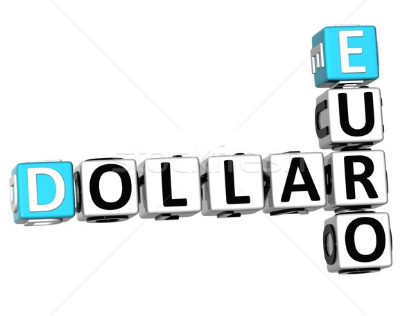 3D Dollar Euro Crossword Stock photo © Mariusz_Prusaczyk
