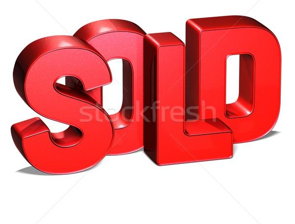3D Word Sold on white background Stock photo © Mariusz_Prusaczyk