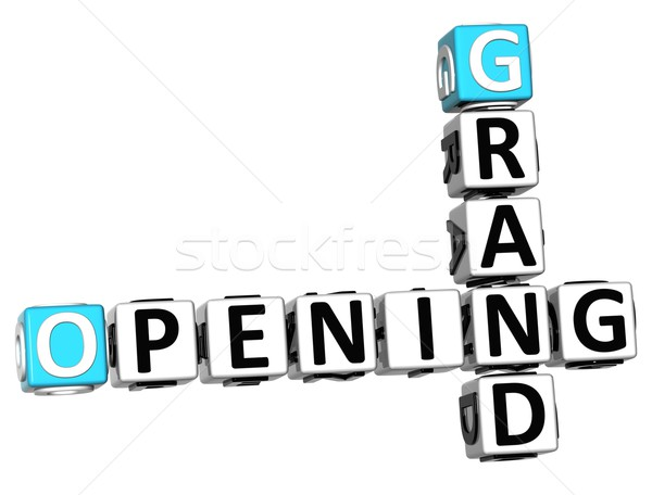 3D Grand Opening Crossword text Stock photo © Mariusz_Prusaczyk
