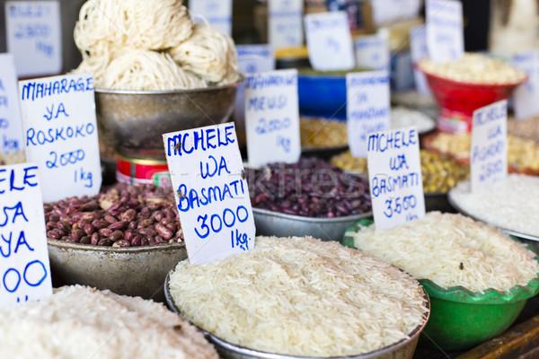 Traditional food market in Zanzibar, Africa. Stock photo © Mariusz_Prusaczyk
