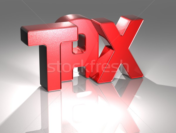 3D Word TAX on white background Stock photo © Mariusz_Prusaczyk