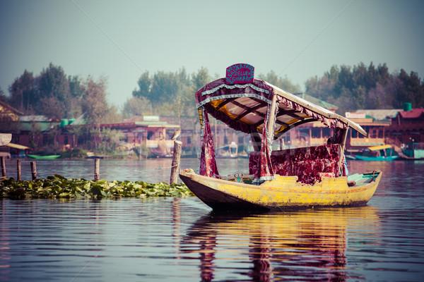 Barca lago India legno natura hotel Foto d'archivio © Mariusz_Prusaczyk