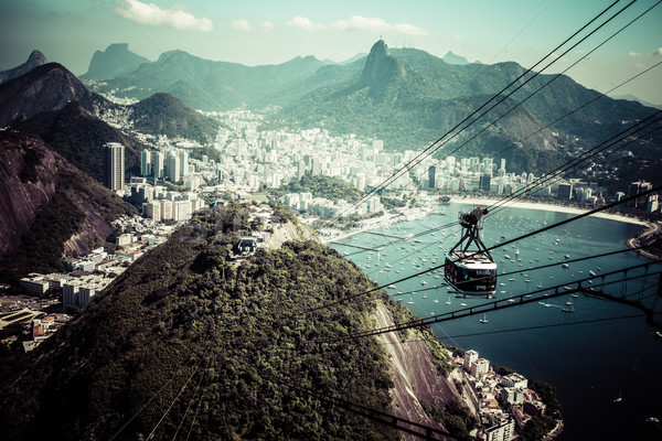 The cable car to Sugar Loaf in Rio de Janeiro Stock photo © Mariusz_Prusaczyk