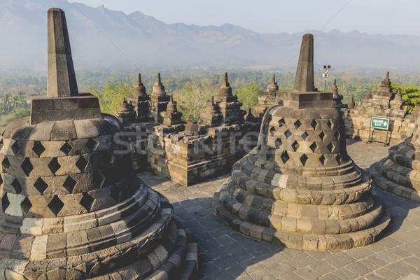 Tapınak gün batımı java Endonezya ibadet mimari Stok fotoğraf © Mariusz_Prusaczyk
