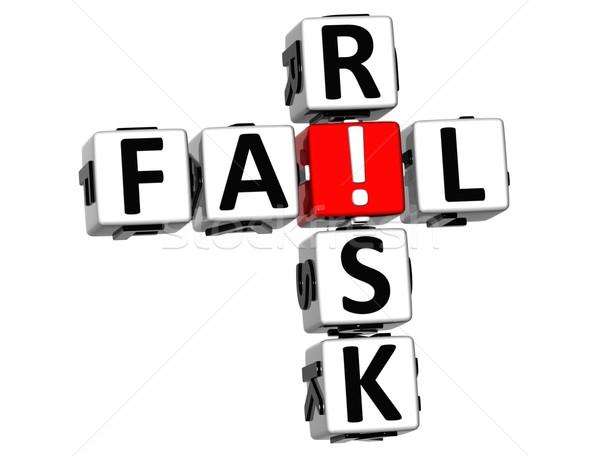 3D Credit Risk Crossword Stock photo © Mariusz_Prusaczyk