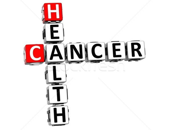 Stok fotoğraf: 3D · kanser · sağlık · bulmaca · beyaz · tıbbi