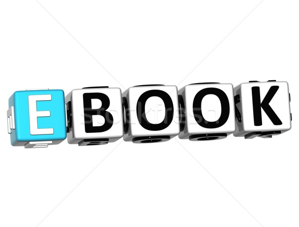 3D ebook tekst witte computer boek Stockfoto © Mariusz_Prusaczyk