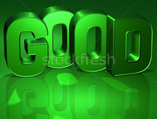 3D mot bon vert élevé résolution Photo stock © Mariusz_Prusaczyk