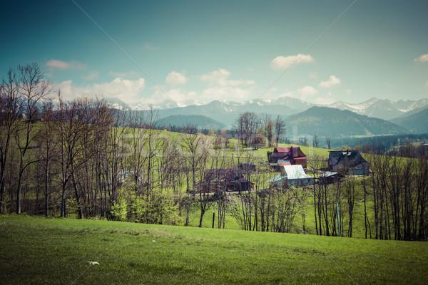 Panorama of Tatra Mountains in spring time, Poland Stock photo © Mariusz_Prusaczyk