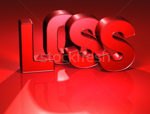 3D Word Loss on red background Stock photo © Mariusz_Prusaczyk