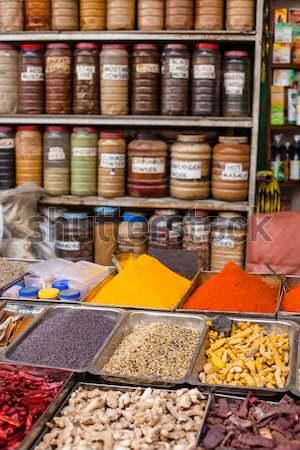 Traditional spices in local shop, Kathmandu, Nepal. Stock photo © Mariusz_Prusaczyk