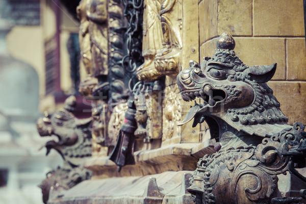 Symbole Macht Schutz Tempel Tal Nepal Stock foto © Mariusz_Prusaczyk