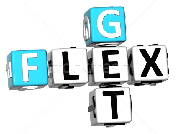 3D Get Flex Crossword text Stock photo © Mariusz_Prusaczyk
