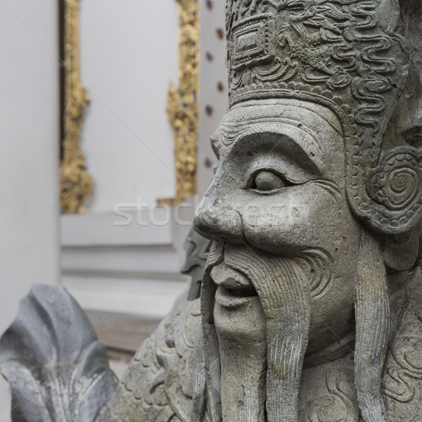 Statua cinese guerriero ingresso tempio Foto d'archivio © Mariusz_Prusaczyk