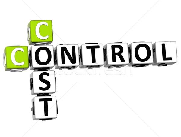 3D Control Cost Crossword Stock photo © Mariusz_Prusaczyk
