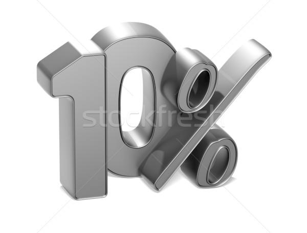 3D 10 yüzde beyaz iş para Stok fotoğraf © Mariusz_Prusaczyk