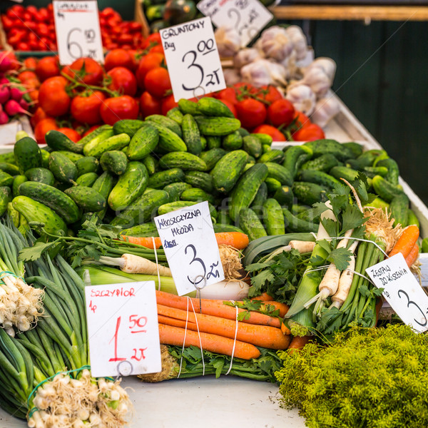 Vegetables for sale at local market in Poland.  Stock photo © Mariusz_Prusaczyk