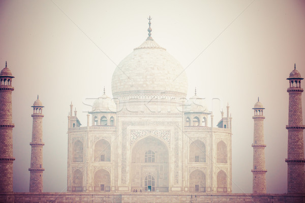 Taj mahal , A famous historical monument, A monument of love, the Greatest White marble tomb in Indi Stock photo © Mariusz_Prusaczyk