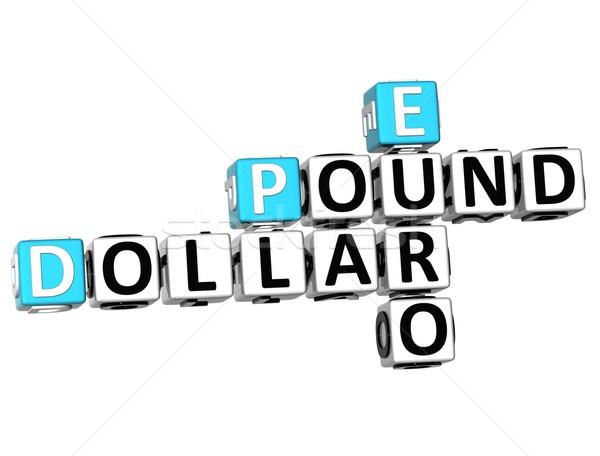 3D Dollar Pound Euro Crossword Stock photo © Mariusz_Prusaczyk
