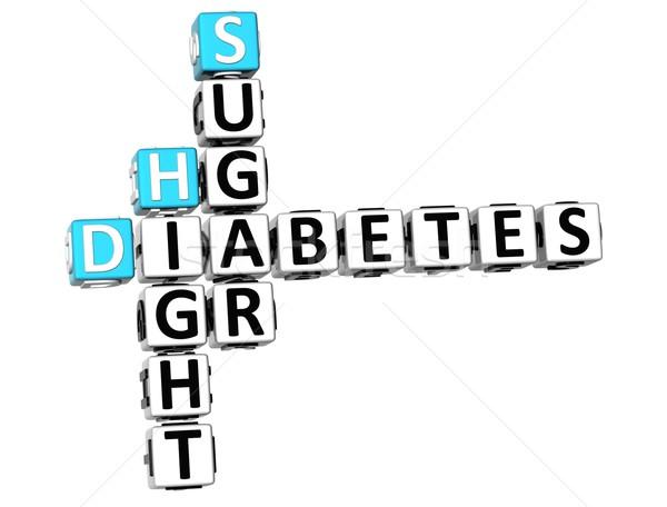 3D диабет сахар кроссворд белый медицинской Сток-фото © Mariusz_Prusaczyk