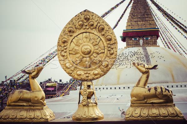 Boudhanath is a buddhist stupa in Kathmandu, Nepal. Stock photo © Mariusz_Prusaczyk
