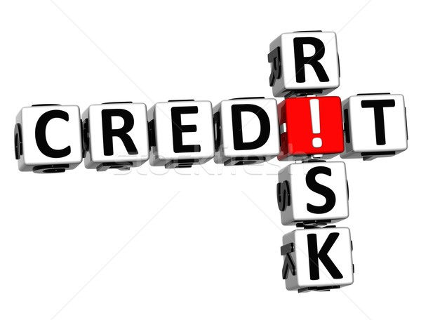 3D Credit Risk Crossword Stock photo © Mariusz_Prusaczyk