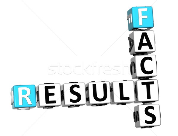 3D Result Facts Crossword cube words Stock photo © Mariusz_Prusaczyk
