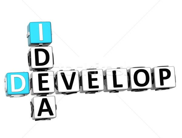 3D Develop Idea Crossword cube words Stock photo © Mariusz_Prusaczyk