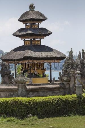 ünlü tapınak göl bali Endonezya manzara Stok fotoğraf © Mariusz_Prusaczyk