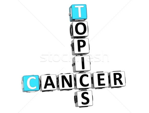 Stok fotoğraf: 3D · kanser · bulmaca · beyaz · tıbbi · kan