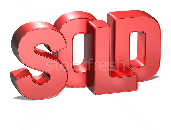 3D Word Sold on white background Stock photo © Mariusz_Prusaczyk