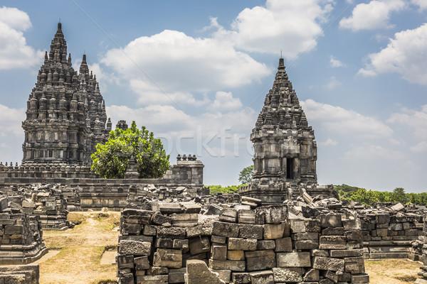 храма Ява острове Индонезия небе Восход Сток-фото © Mariusz_Prusaczyk